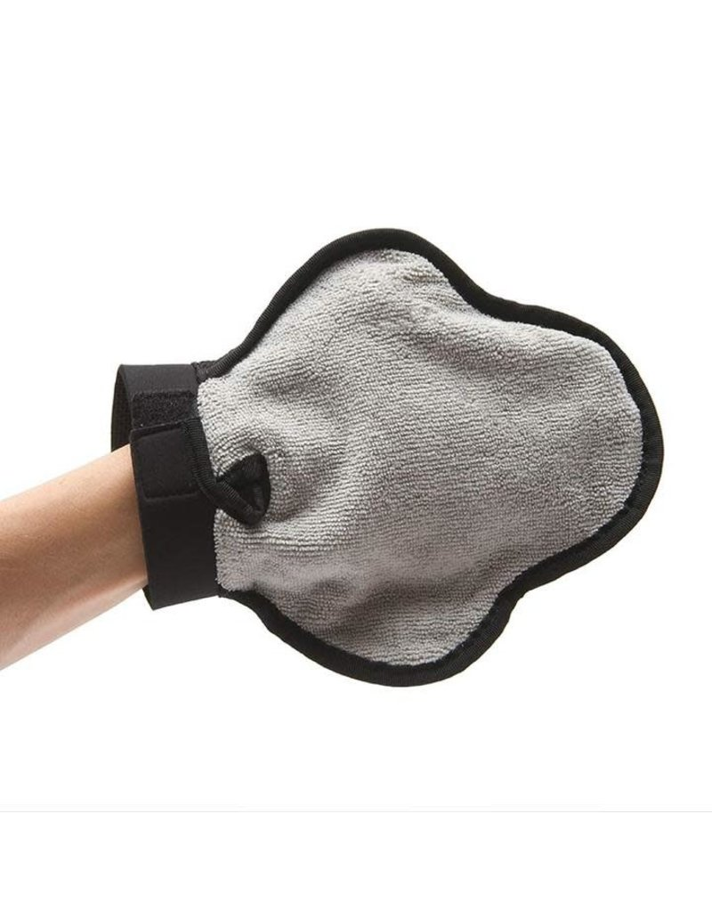 Messy Mutts Reversible Silicone Pet Grooming Glove for Gentle Massage, Bathing and Hair Removal