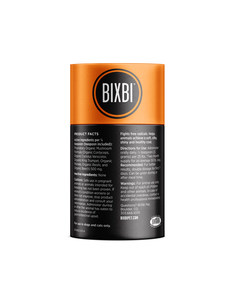 Bixbi  Skin & Coat Support Powdered Mushroom Supplement for Dogs