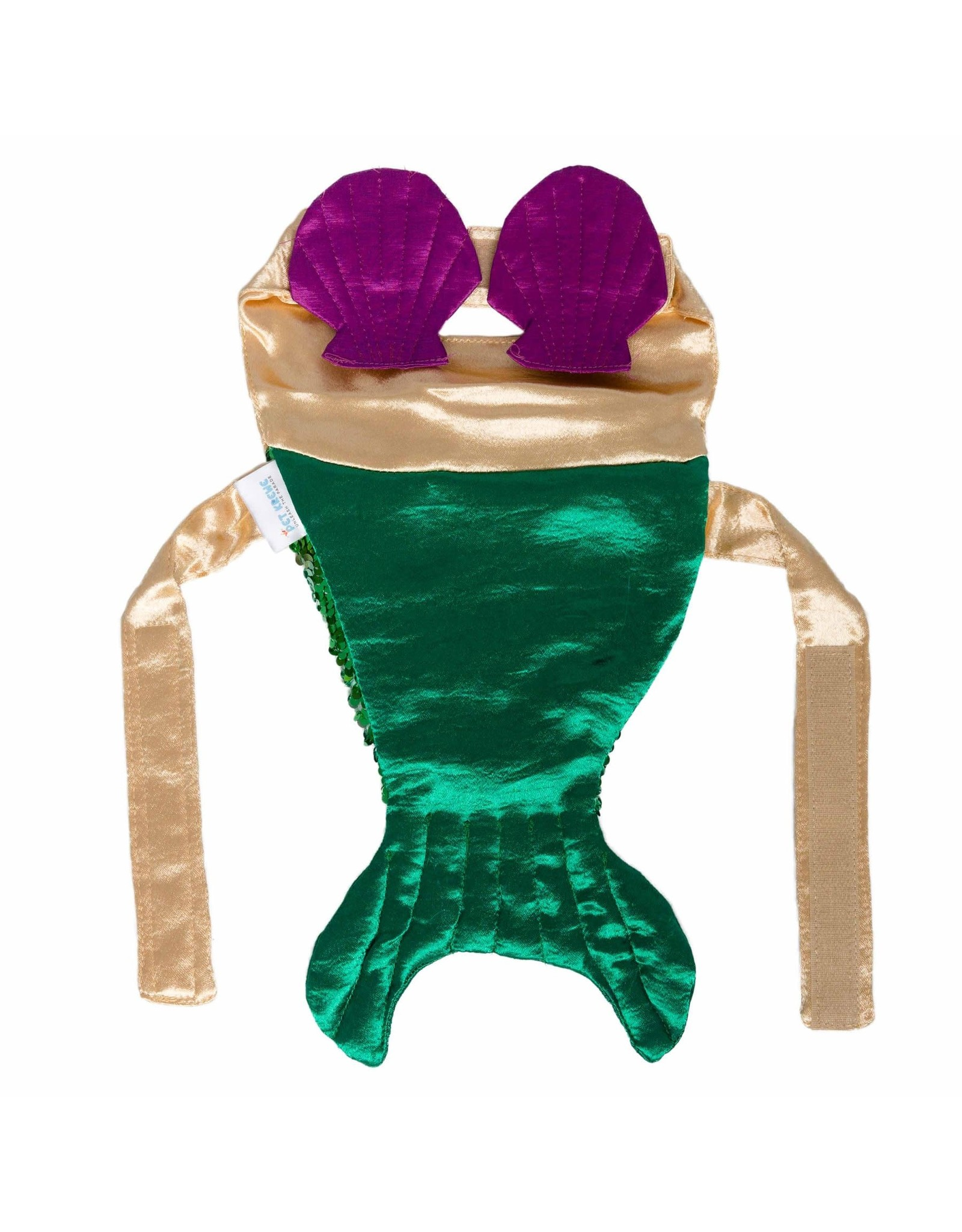 Pet Krewe Mermaid Pet Costume with Reversible Sequined Tail