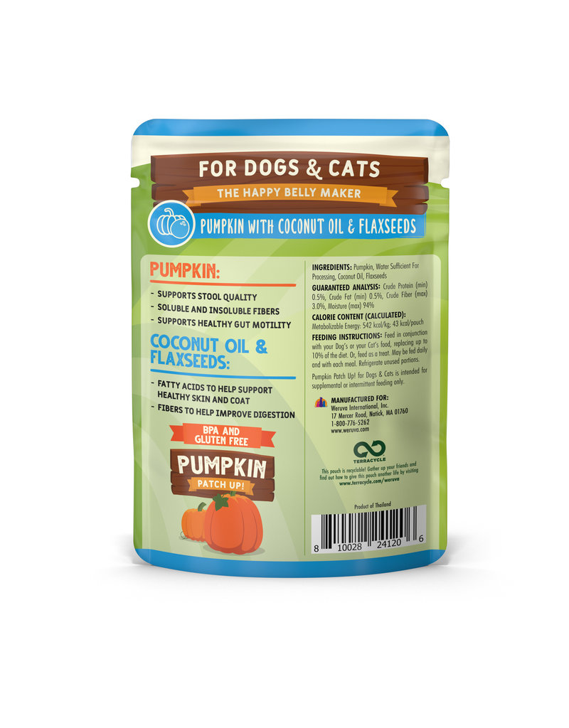 Weruva Weruva Pumpkin Patch Up! Dog & Cat Food Supplement Pouches - Pumpkin with Coconut Oil & Flaxseeds