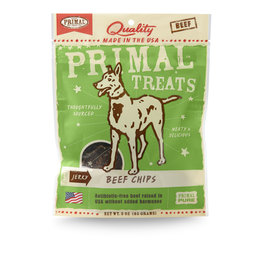 Primal Pet Foods Chip Treats - Beef Jerky