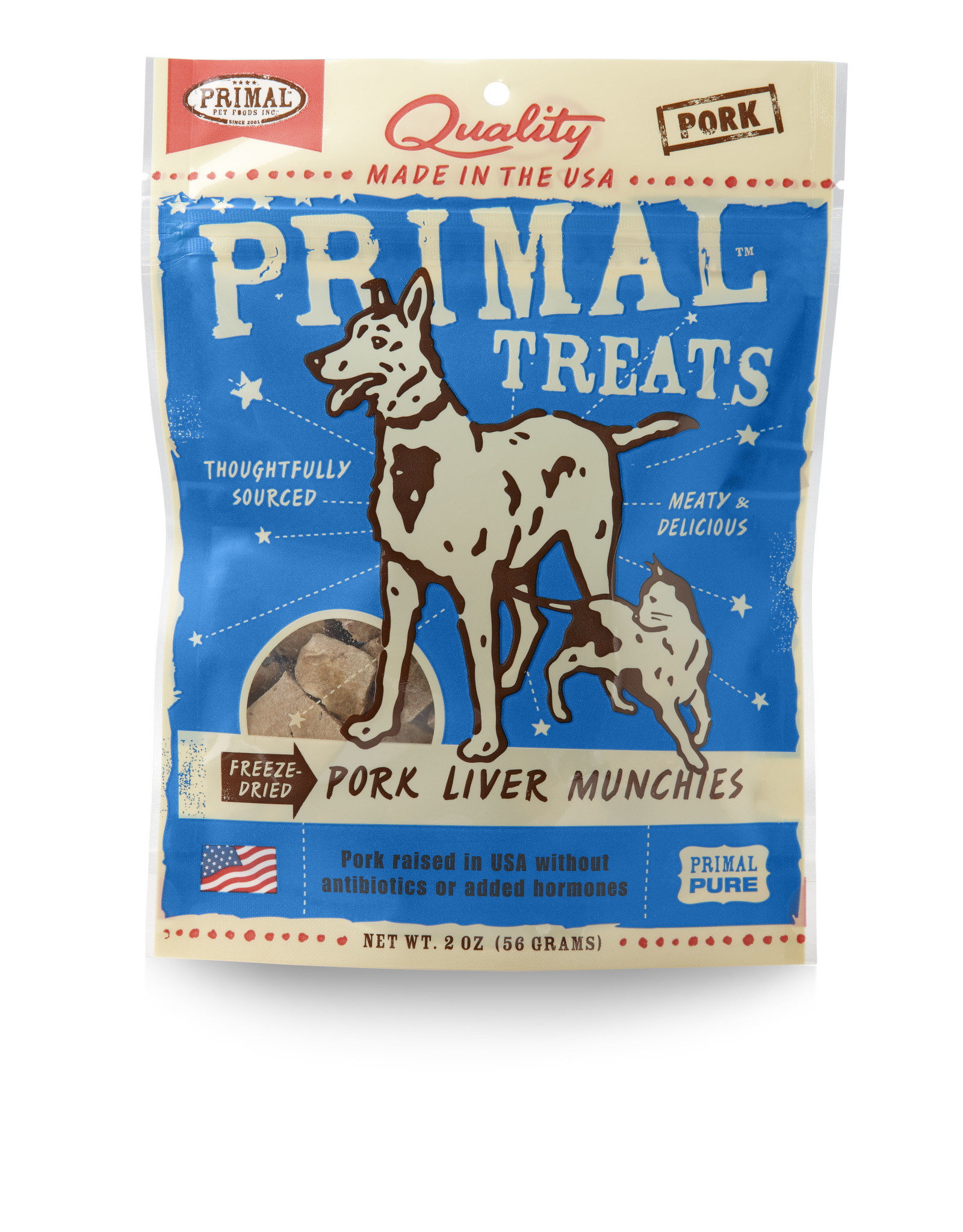 Primal Pet Foods Munchies Treats - Freeze-Dried Pork Liver