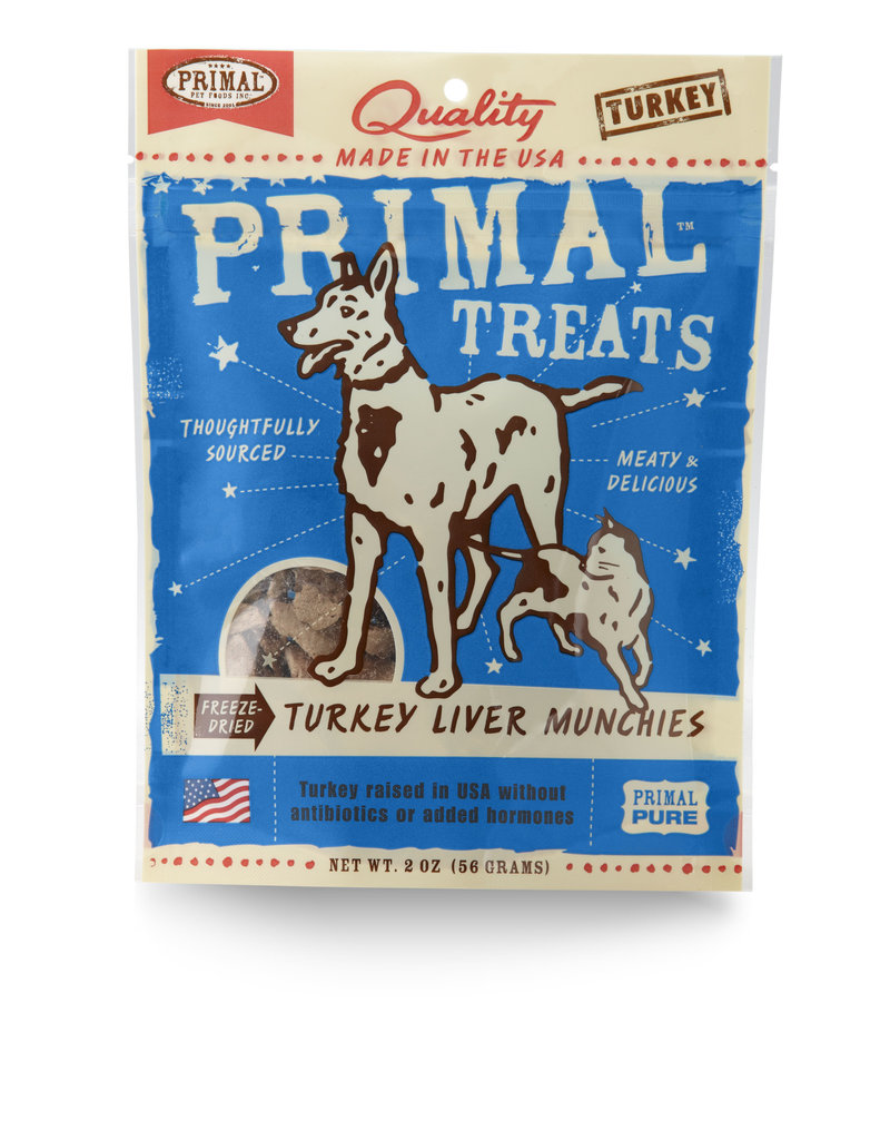 Primal Pet Foods Munchies Treats - Freeze-Dried Turkey Liver