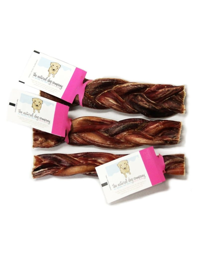 The Natural Dog Company 6in Braided Bully Sticks - Odor Free