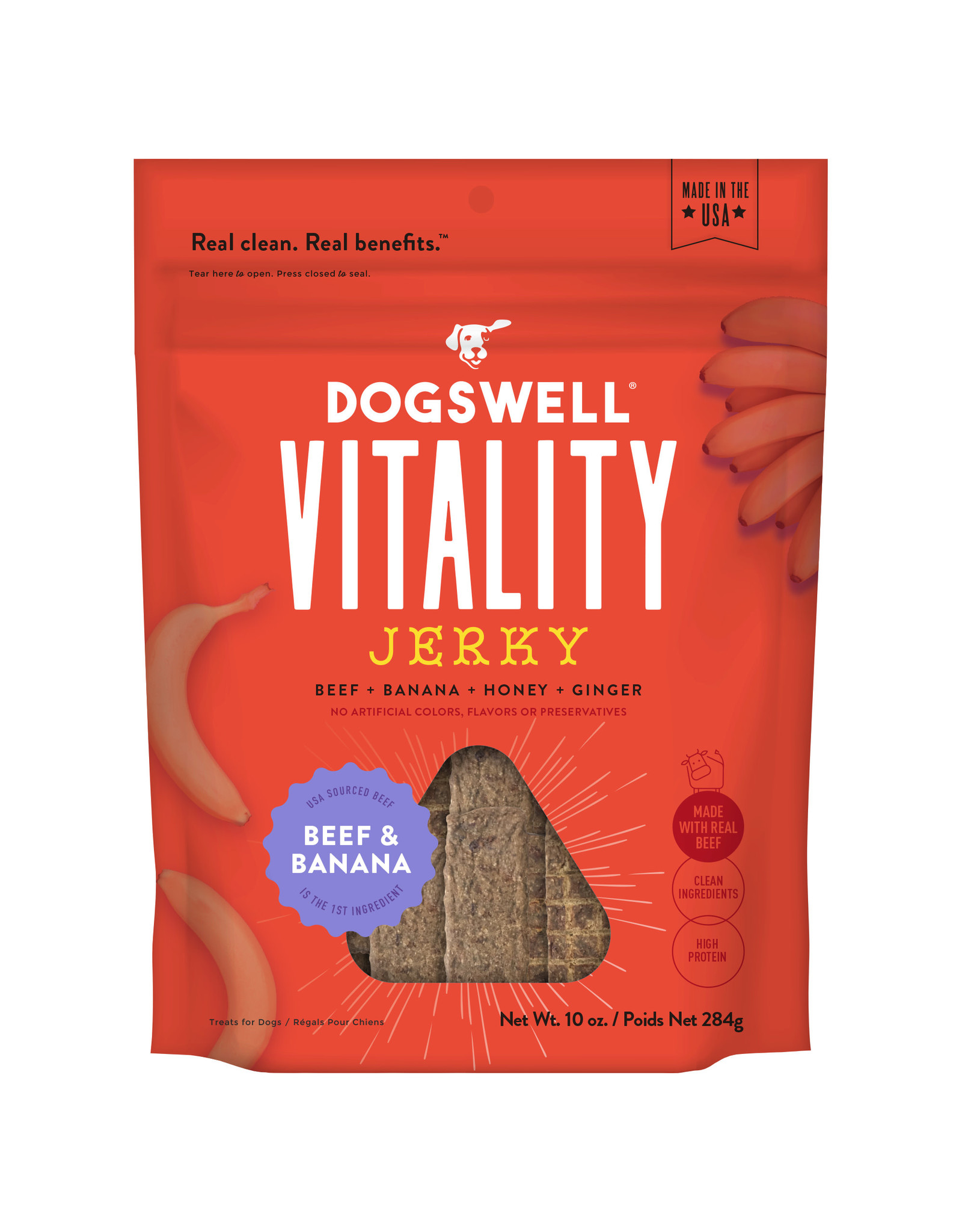 Dogswell Dogswell Vitality Beef & Banana Jerky