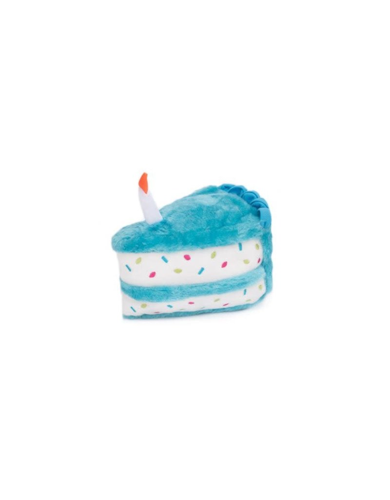 ZippyPaws NomNomz Birthday Cake - Blue
