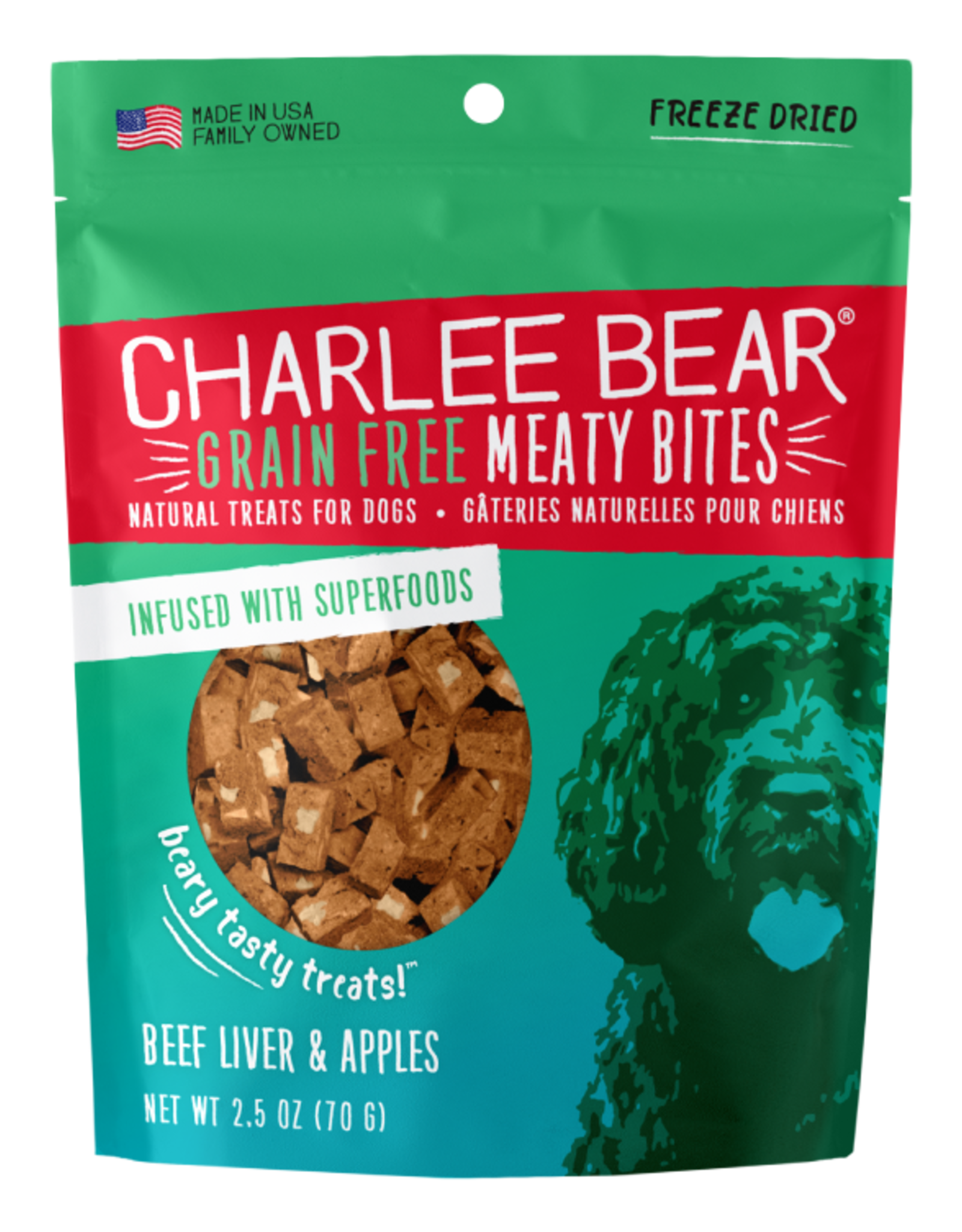 Charlee Bear Meaty Bites Beef Liver & Apples