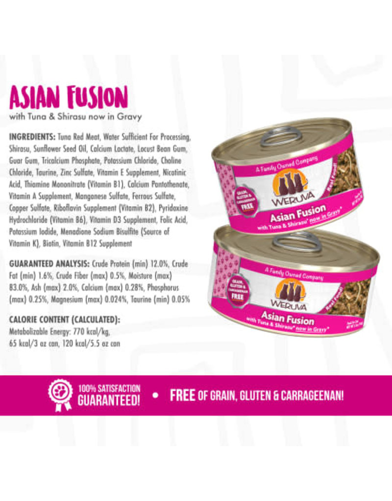 Weruva Weruva Asian Fusion with Tuna & Shirasu now in Gravy Wet Cat Food