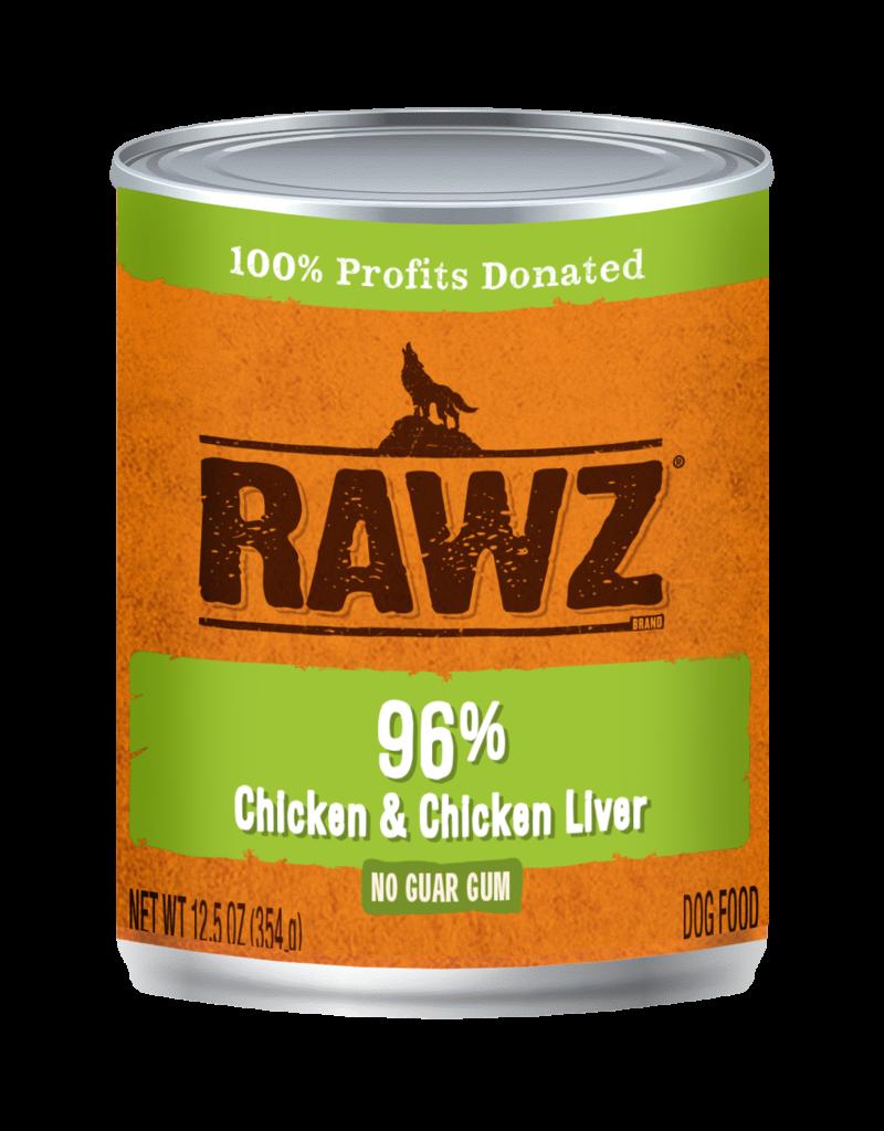 RAWZ Natural Pet Food RAWZ 96% Chicken & Chicken Liver Canned Dog Food