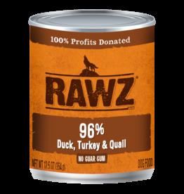 RAWZ Natural Pet Food RAWZ 96% Duck, Turkey & Quail