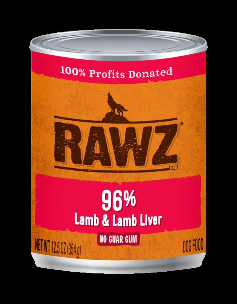 RAWZ Natural Pet Food RAWZ 96% Lamb & Lamb Liver Canned Dog Food