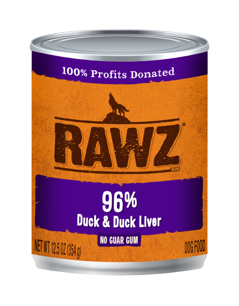 RAWZ Natural Pet Food RAWZ 96% Duck & Duck Liver Canned Dog Food