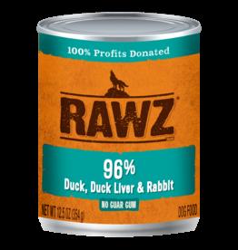 RAWZ Natural Pet Food RAWZ 96% Duck, Duck Liver & Rabbit