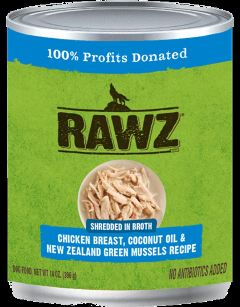 RAWZ Natural Pet Food RAWZ Shredded in Broth Chicken Breast, Coconut Oil & New Zealand Green Mussels