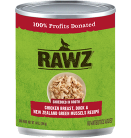 RAWZ Natural Pet Food RAWZ Shredded in Broth Chicken Breast, Duck & New Zealand Green Mussels