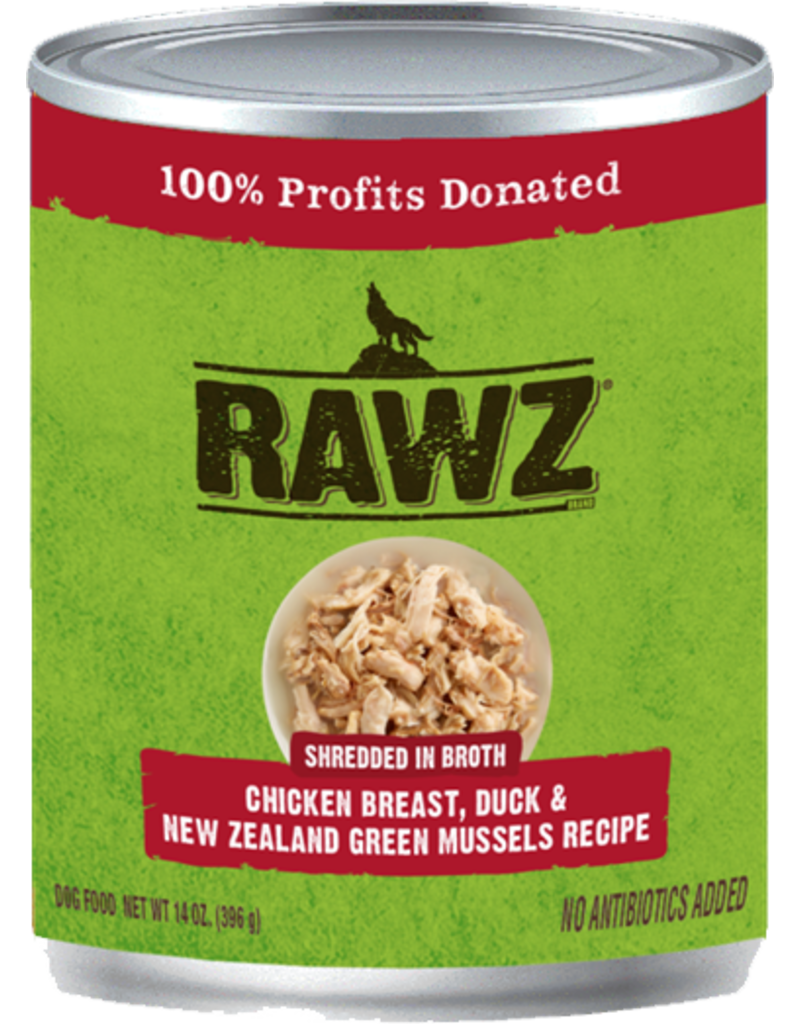 RAWZ Natural Pet Food RAWZ Shredded in Broth Chicken Breast, Duck & New Zealand Green Mussels