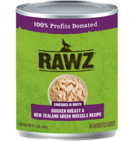 RAWZ Natural Pet Food RAWZ Shredded in Broth Chicken Breast & New Zealand Green Mussels