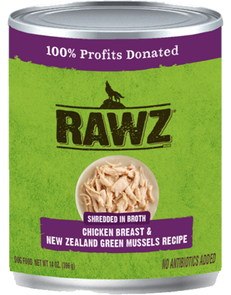 RAWZ Natural Pet Food RAWZ Shredded in Broth Chicken Breast & New Zealand Green Mussels