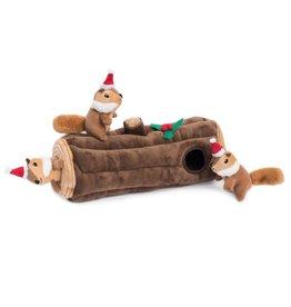 ZippyPaws Holiday Burrow - Yule log