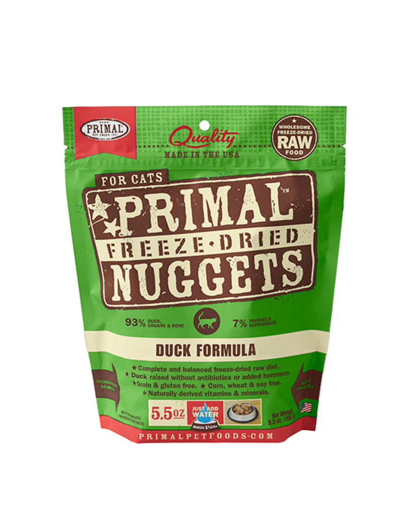 Primal Pet Foods Primal Duck Formula Raw Freeze-Dried Cat Food