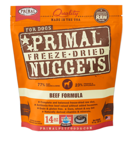 Primal Pet Foods Primal Canine Freeze-Dried Nuggets Beef