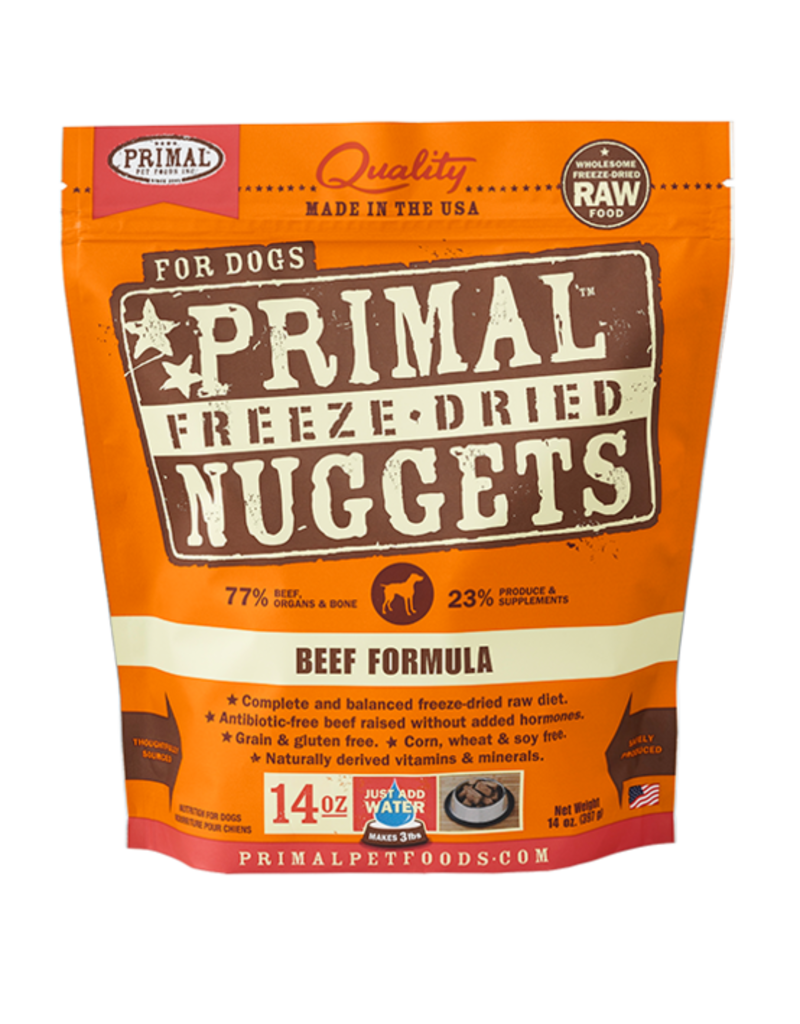 Primal Pet Foods Primal Canine Raw Freeze-Dried Nuggets Beef