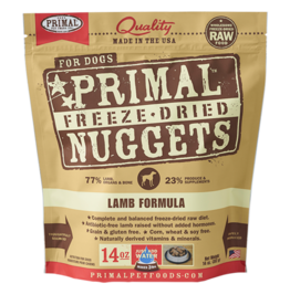 Primal Pet Foods Primal Canine Freeze-Dried Nuggets Lamb