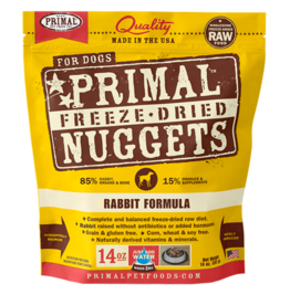 Primal Pet Foods Primal Canine Freeze-Dried Nuggets Rabbit