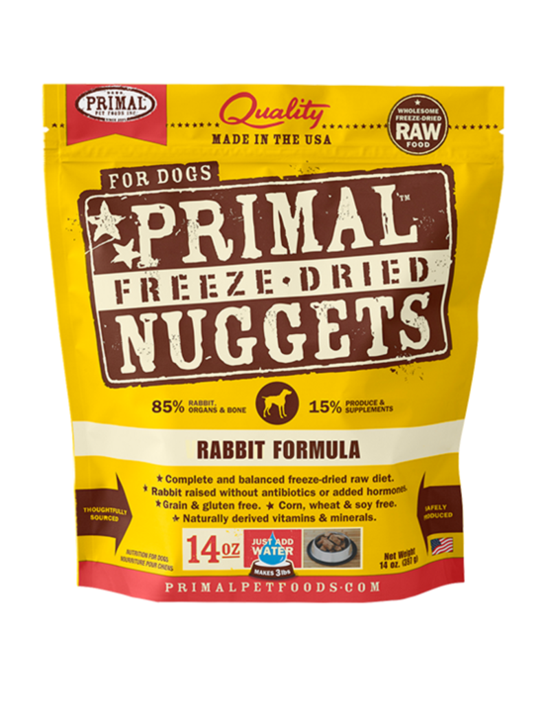 Primal Pet Foods Primal Canine Raw Freeze-Dried Nuggets Rabbit