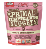 Primal Pet Foods Primal Canine Raw Freeze-Dried Nuggets Turkey & Sardine