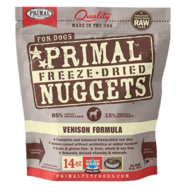 Nulo Primal Canine Freeze-Dried Nuggets Venison