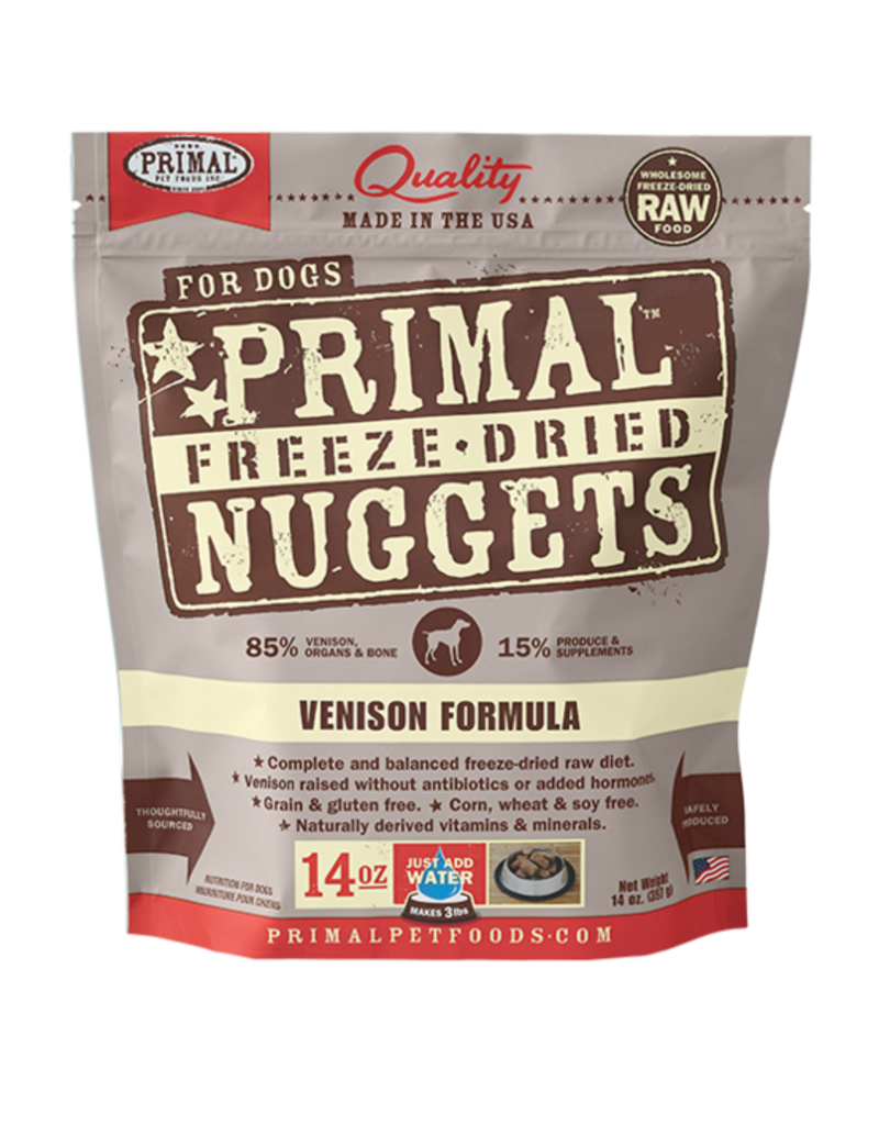Nulo Primal Canine Raw Freeze-Dried Nuggets Venison