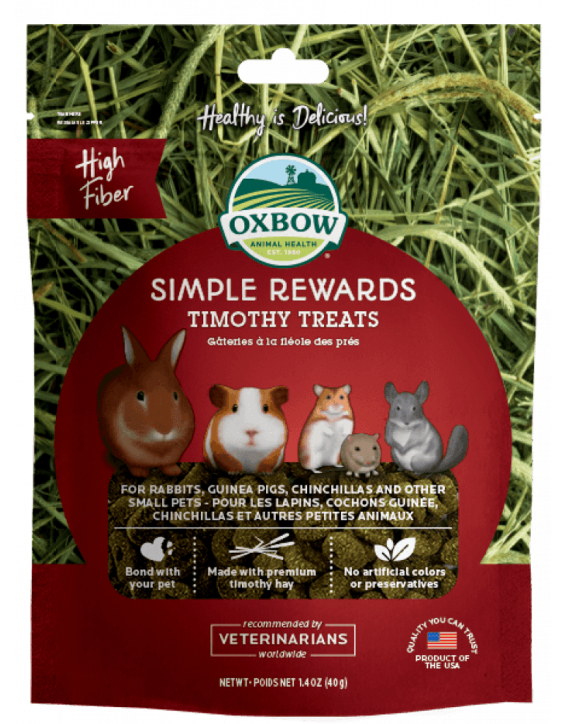Oxbow Animal Health Simple Rewards Timothy Treats