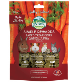 Oxbow Animal Health Simple Rewards Baked Treats with Carrot & Dill