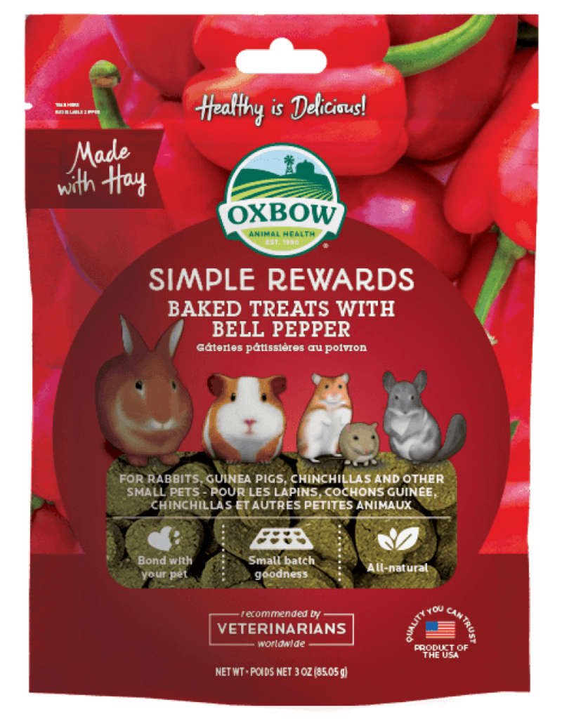 Oxbow Animal Health Simple Rewards Baked Treats with Bell Pepper