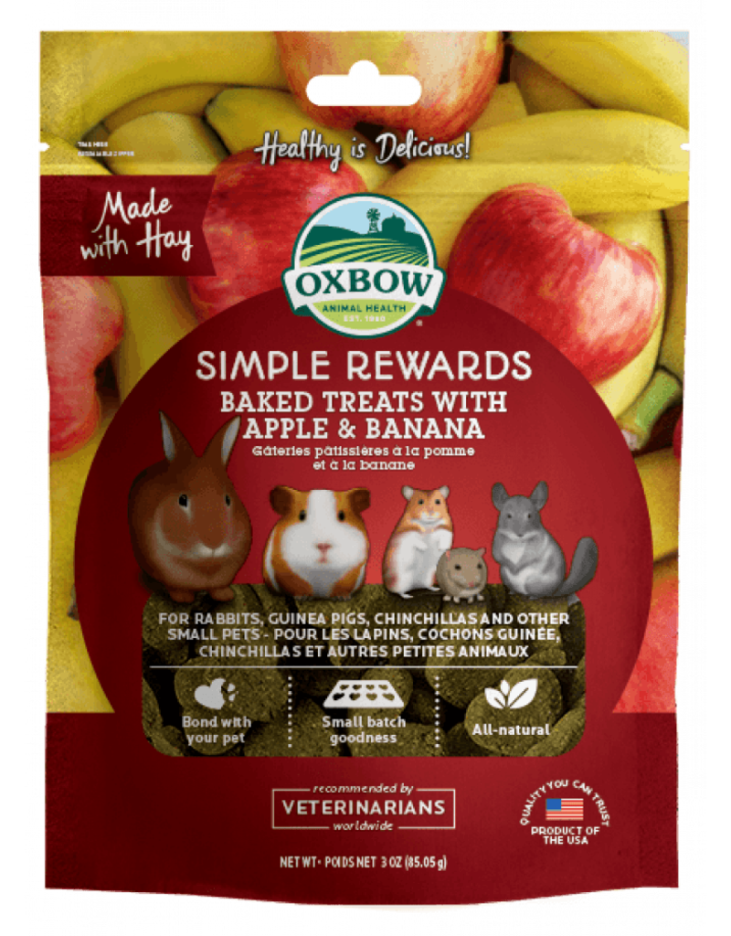 Oxbow Animal Health Simple Rewards Baked Treats with Apple & Banana