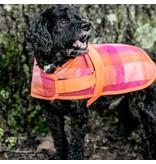HuggleHounds HuggleWear Jackets - Pink & Orange Plaid
