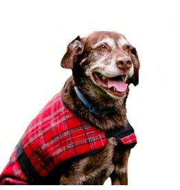 HuggleHounds HuggleWear Jackets - Red & Gray Plaid