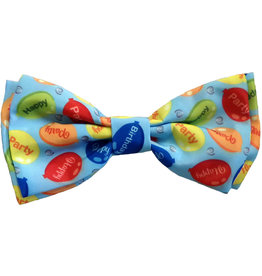 Huxley & Kent Party Time Blue Bow Tie