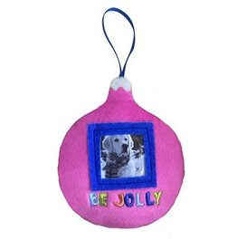 Huxley & Kent Holiday Pet Photo Ornament - Be Jolly