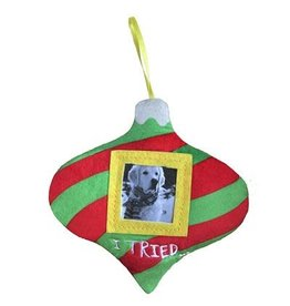 Huxley & Kent Holiday Pet Photo Ornament - I Tried