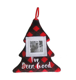 Huxley & Kent Holiday Pet Photo Ornament - I've Been Good