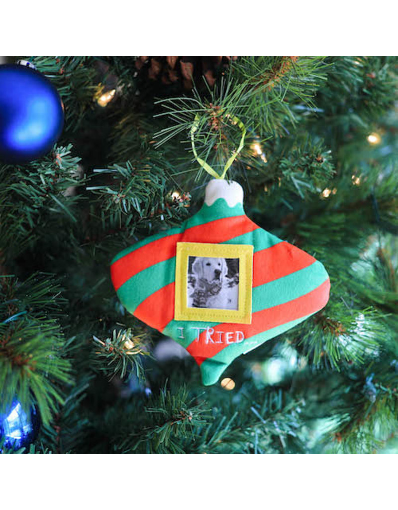Huxley & Kent I Tried Frame Ornament by Lulubelles