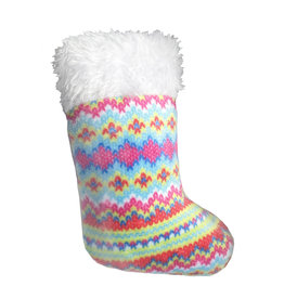 Huxley & Kent Holiday Fairisle Stocking Cat Toy