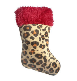 Huxley & Kent Holiday Leopard Stocking Cat Toy