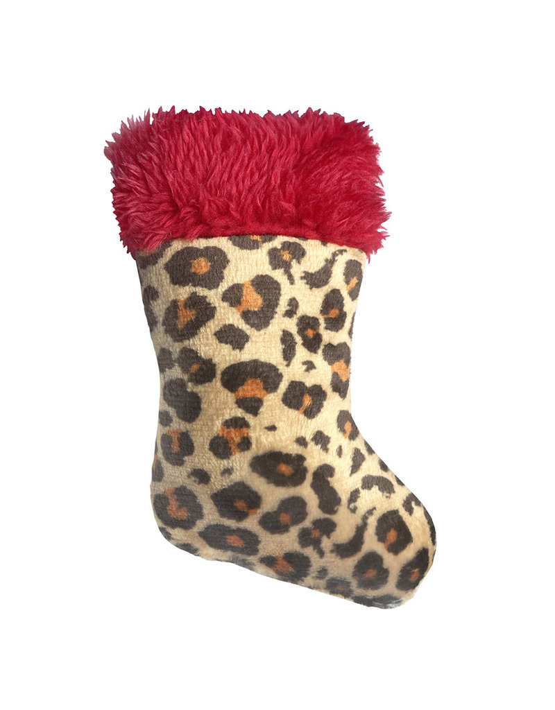 Huxley & Kent Holiday Leopard Stocking Cat Toy by Kittybelles