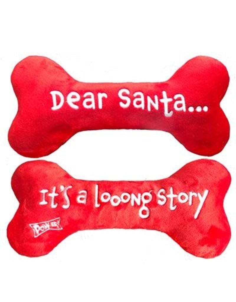 Huxley & Kent Dear Santa Plush Toy Bone by Lulubelles