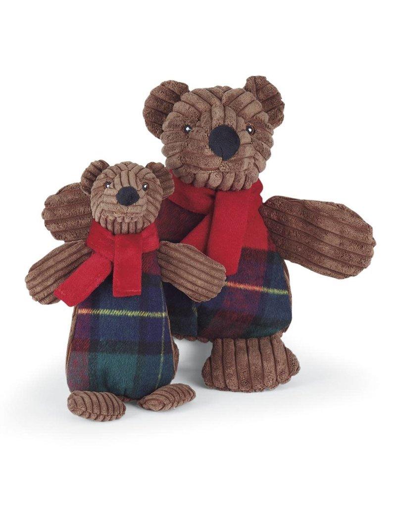 HuggleHounds Chubbie Buddie Brown Bear Dog Toy