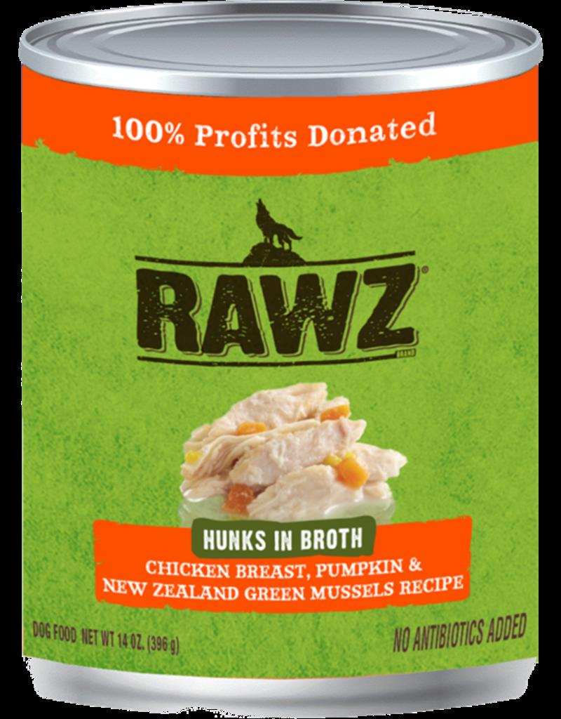 RAWZ Natural Pet Food RAWZ Hunks in Broth Chicken Breast, Pumpkin & New Zealand Green Mussels