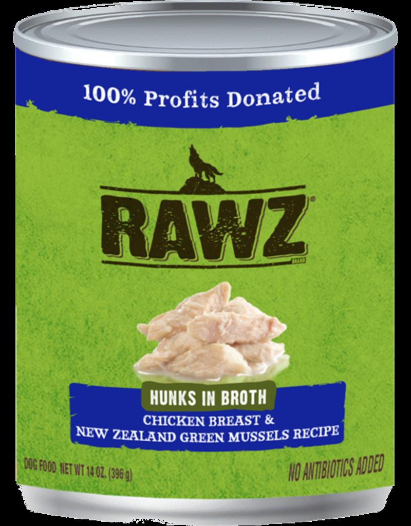 RAWZ Natural Pet Food RAWZ Hunks in Broth Chicken Breast & New Zealand Green Mussels